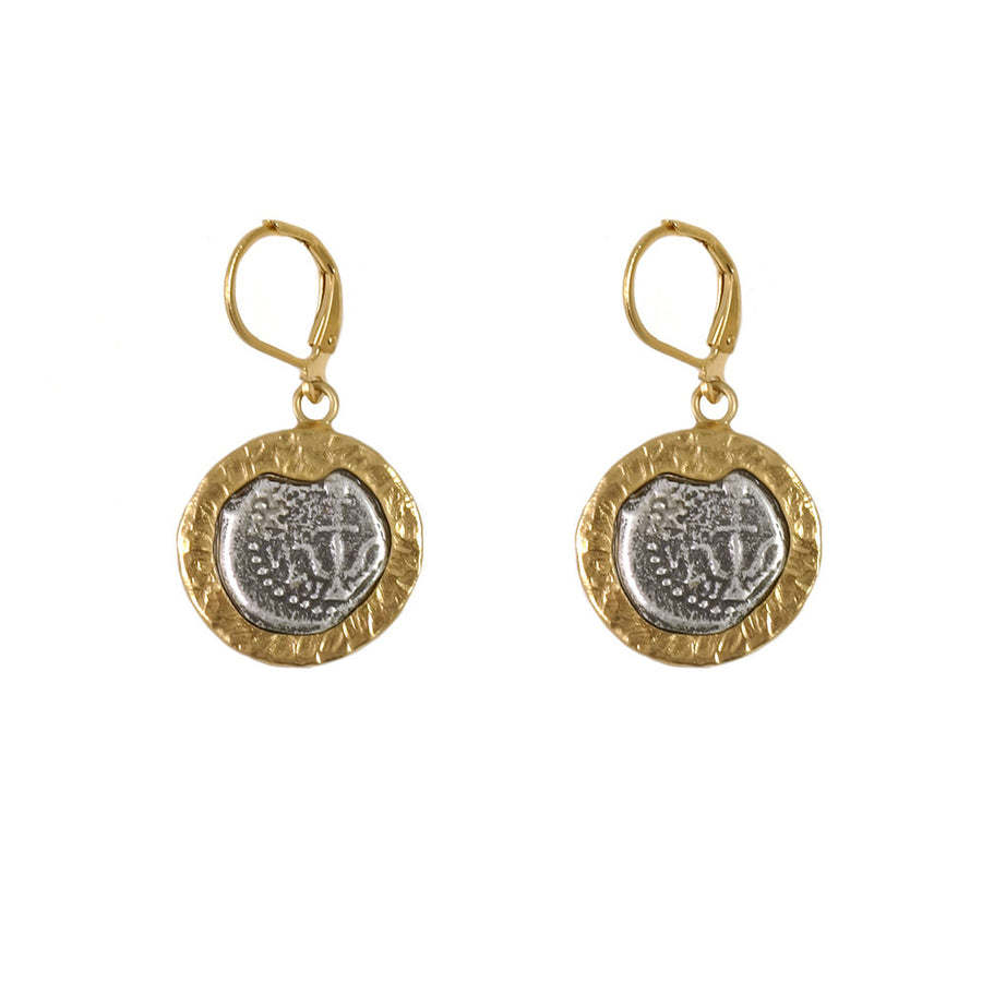 GOLD FRAME RIJEKA EARRINGS