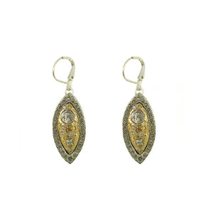 VINTAGE SILVER BARI ALMOND SHAPE EARRINGS
