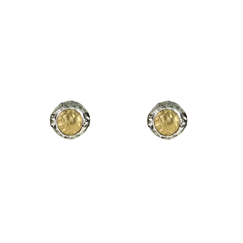 VINTAGE SILVER TOLEDO STUD EARRINGS