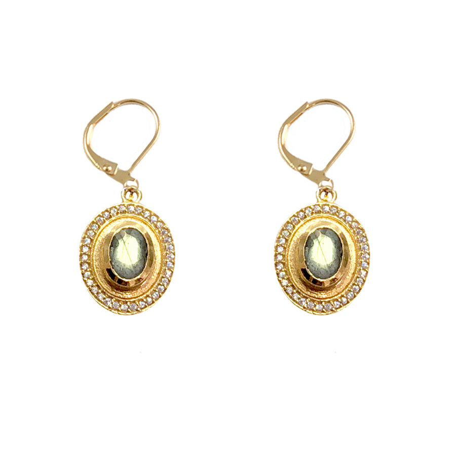 GOLD LABRADORITE TALEN DROP EARRINGS