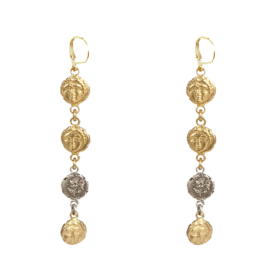 GOLD APOLLONIA MULTI-COIN EARRING
