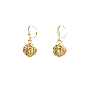 GOLD APOLLONIA DROP EARRING
