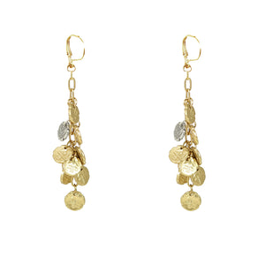 GOLD APOLLONIA PONTIKA MULTI-COIN EARRING