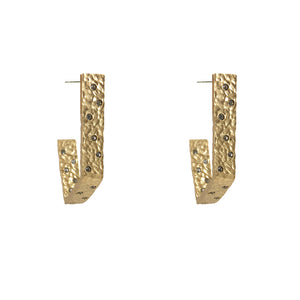GOLD ZADAR GEOMETRIC HOOPS