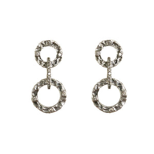 VINTAGE SILVER VOLTA CRYSTAL EARRINGS