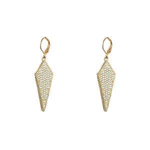 GOLD VELEN CRYSTAL KITE DROP EARRINGS