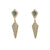 GOLD KUTO LABRADORITE & CRYSTAL KITE EARRINGS