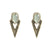 VINTAGE GOLD SASAD LABRADORITE & CRYSTAL POINT EARRINGS