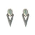 VINTAGE SILVER SASAD LABRADORITE & CRYSTAL POINT EARRINGS