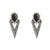 VINTAGE SILVER SASAD ONYX & CRYSTAL POINT EARRINGS
