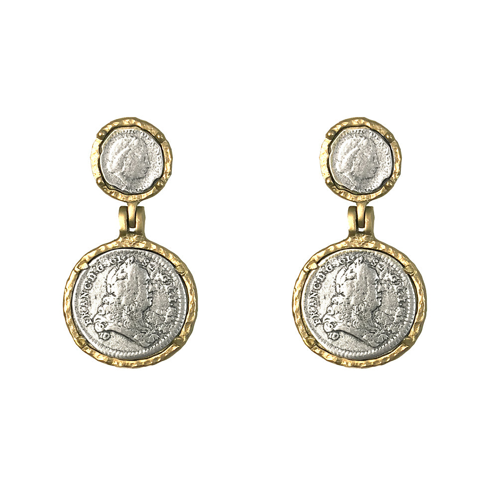 GOLD JULIANA & FRANCIS II EARRINGS