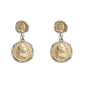 VINTAGE SILVER JULIANA & FRANCIS II EARRINGS