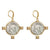 GOLD MAXIMIANUS COIN & FRAME EARRINGS