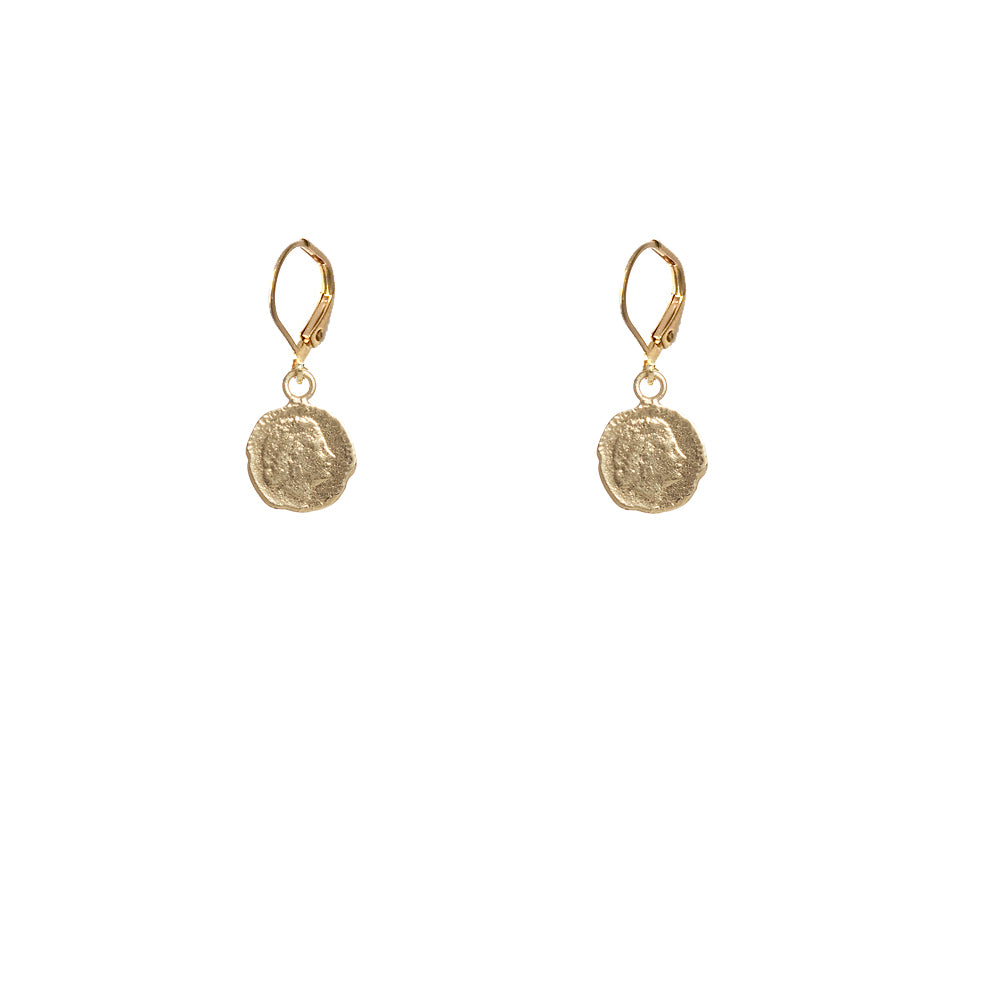 GOLD JULIANA MINI COIN DROP EARRINGS