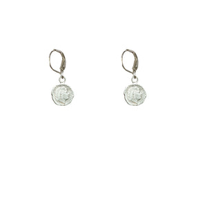 VINTAGE SILVER JULIANA MINI COIN DROP EARRINGS