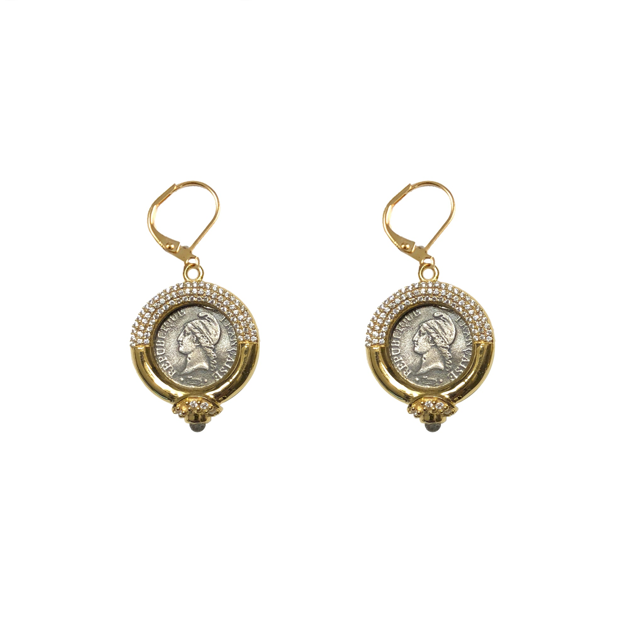 GOLD FRAME VS MINI DUPRÉ DROP EARRINGS