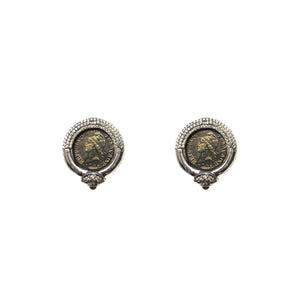 VINTAGE SILVER FRAME VG MINI DUPRÉ POST EARRINGS