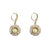 GOLD FRAME MINI LABRADORITE EARRINGS