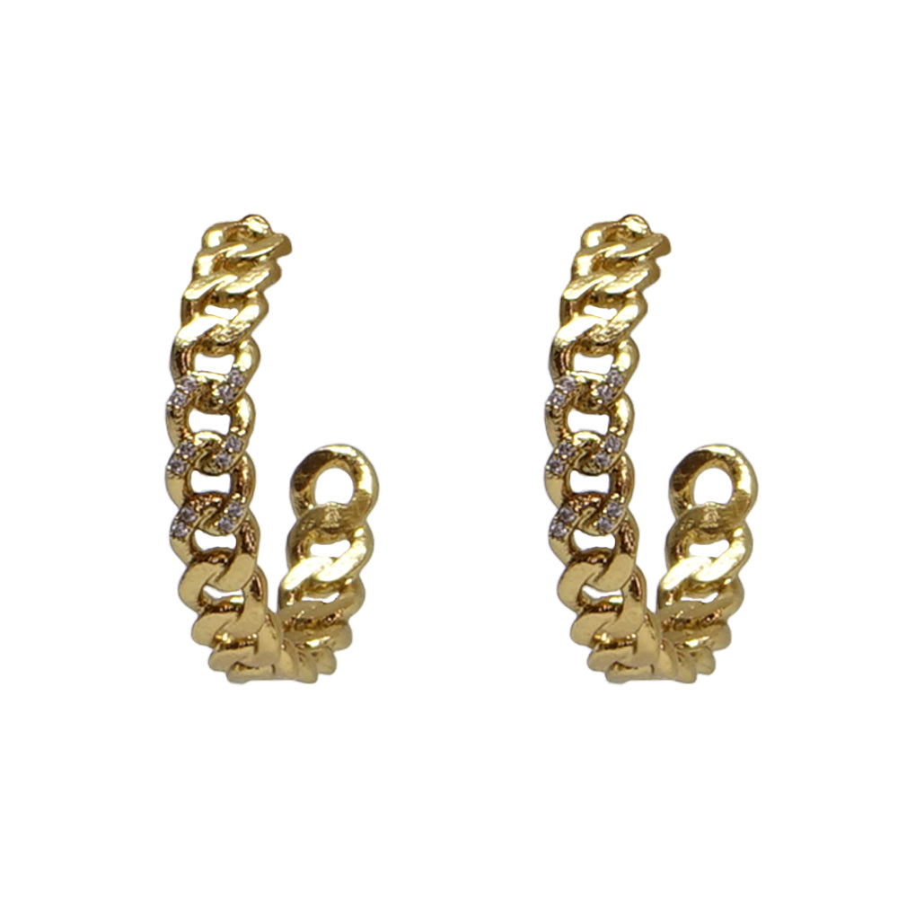 GOLD MINI CATENA HOOPS / 1""