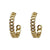 GOLD MINI CATENA HOOPS / 1.5""