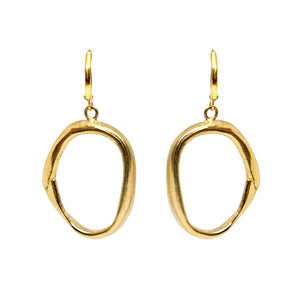 GOLD LOOP EARRINGS