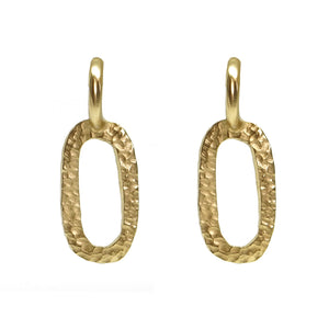 GOLD HAMMERED CATENA LINK EARRINGS