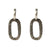 VINTAGE SILVER HAMMERED CATENA LINK EARRINGS