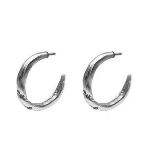 VINTAGE SILVER THIN TWISTED HOOPS