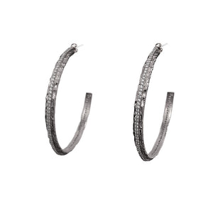 "VS EGY CRYSTAL THIN 2"" HOOPS"