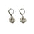 VINTAGE SILVER ROUND CRYSTAL IMPRESSION EARRINGS