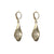 GOLD TEAR DROP CRYSTAL IMPRESSION EARRINGS