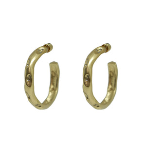 "GOLD THIN 1.5"" IMPRESSION HOOPS"