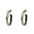 "VINTAGE SILVER THIN WAVE 1.5"" IMPRESSION HOOPS"