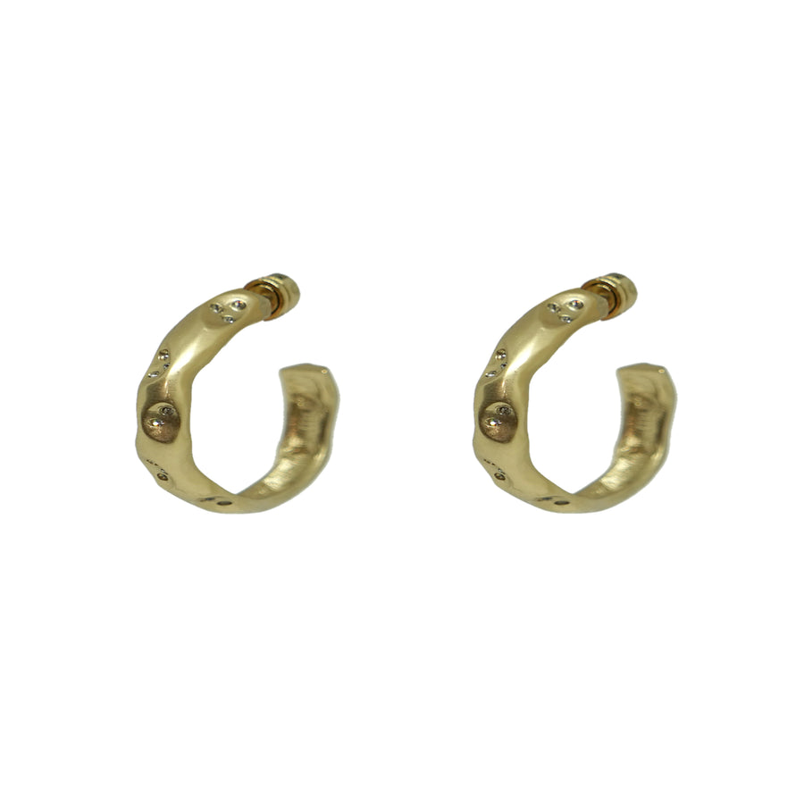 "GOLD THIN 1"" IMPRESSION HOOPS"
