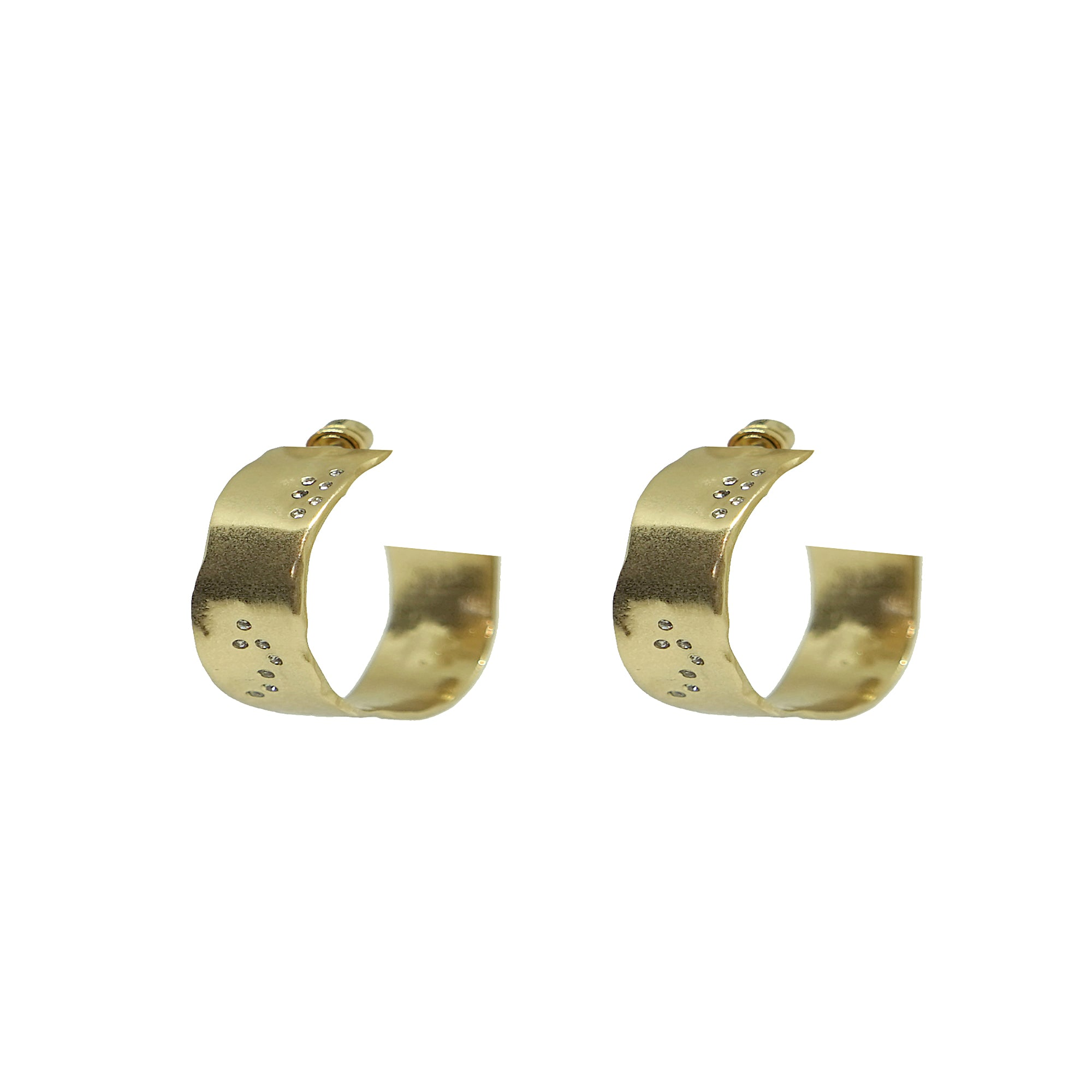 "GOLD WIDE 1"" IMPRESSION HOOPS"