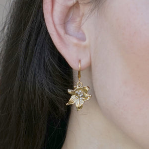 GOLD LILY DROP EARRINGS