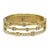 GOLD DANUBE LABRADORITE & CRYSTAL 3 ROW BANGLE