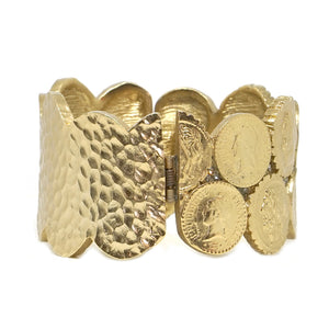 GOLD DOUBLE COIN BANGLE