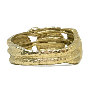 GOLD DREI COIN & CRYSTAL 3 ROW  BANGLE