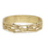 GOLD ESSLING BLACK DIAMOND 4 ROW BANGLE