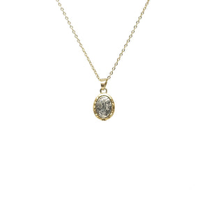 GOLD FAUSTINA COIN & FRAME NECKLACE
