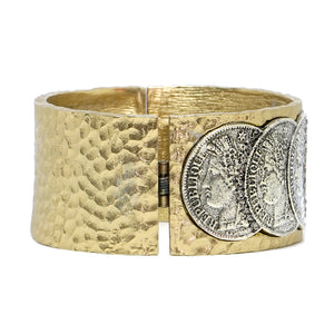 GOLD FRAME VS REPUBLIQUE COIN BANGLE