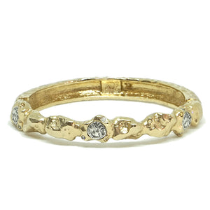 GOLD NUGGET BANGLE