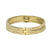 GOLD VELEN CRYSTAL INLAY BANGLE