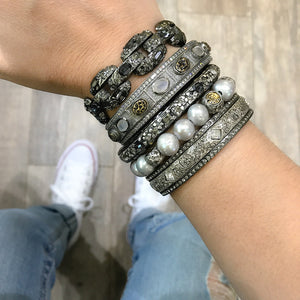 GUNMETAL SKHIRAT ID BANGLE