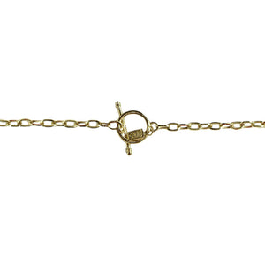 GOLD FAUSTINA COIN LONG STATION NECKLACE