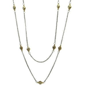Gold Marquis VS Chain Station Necklace