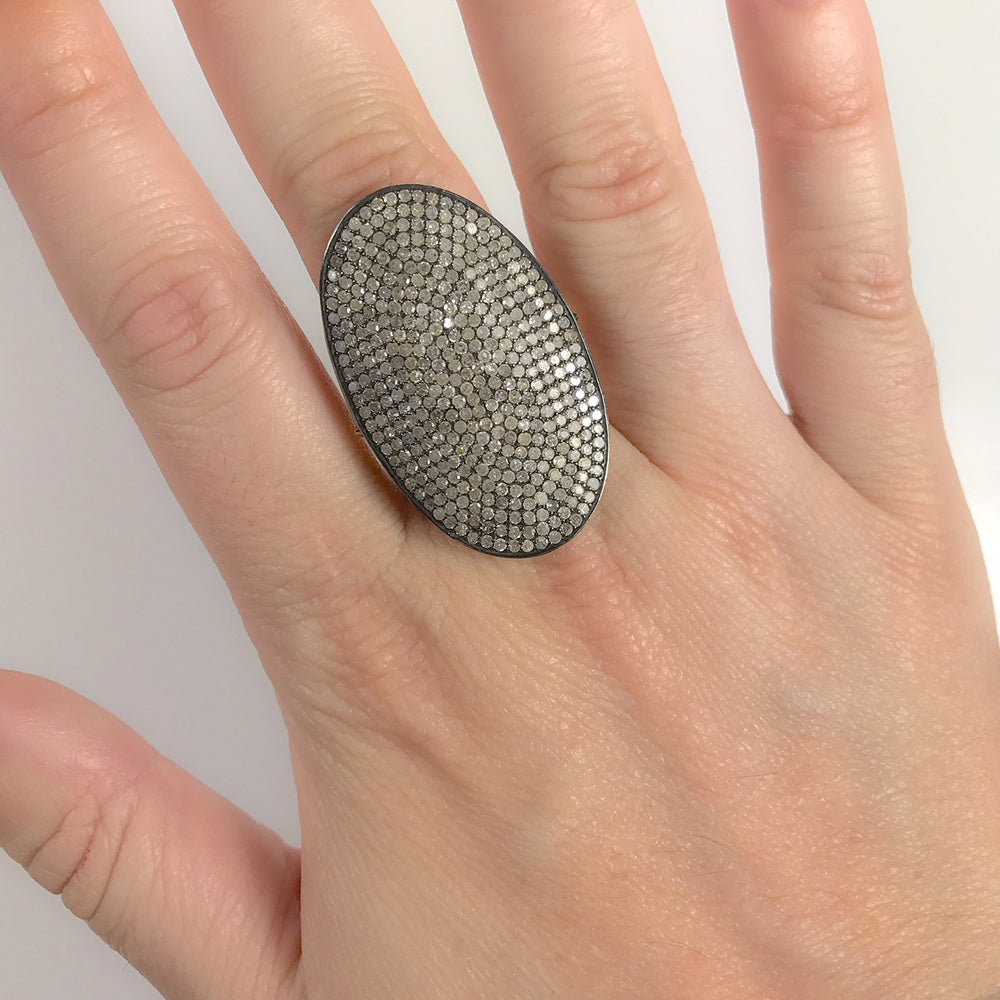 BLACK RHODIUM AJARA DIAMOND COCKTAIL RING