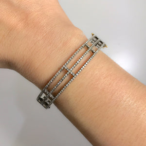 BLACK RHODIUM SALEM DIAMOND CAGE BANGLE