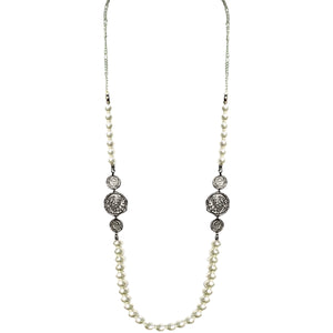 COIN AND PEARL NECKLACE